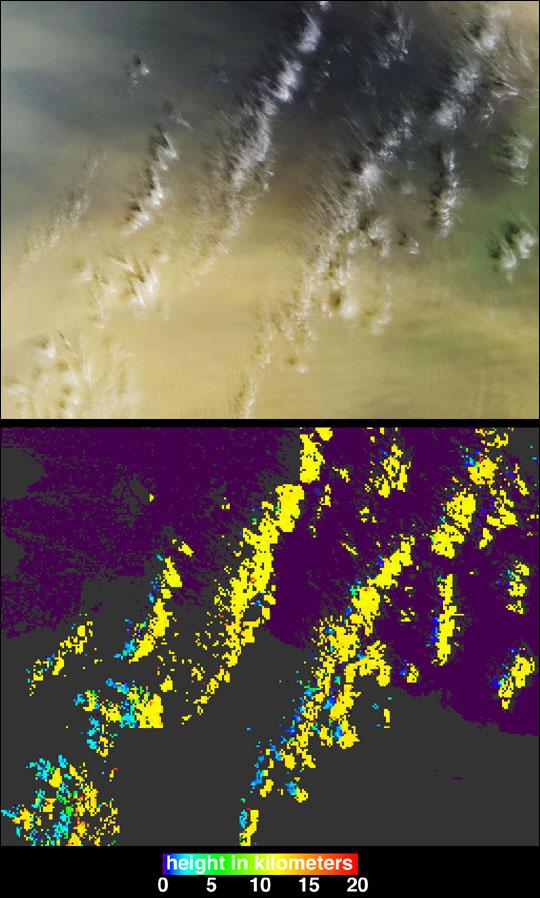 Casting Light and Shadows on a Saharan Dust Storm