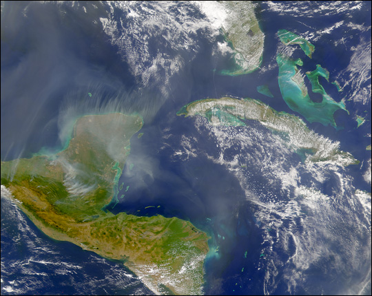 Smoke Across the Yucatan and Central America