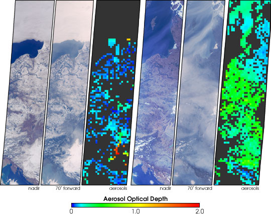 Aerosols over Central and Eastern Europe
