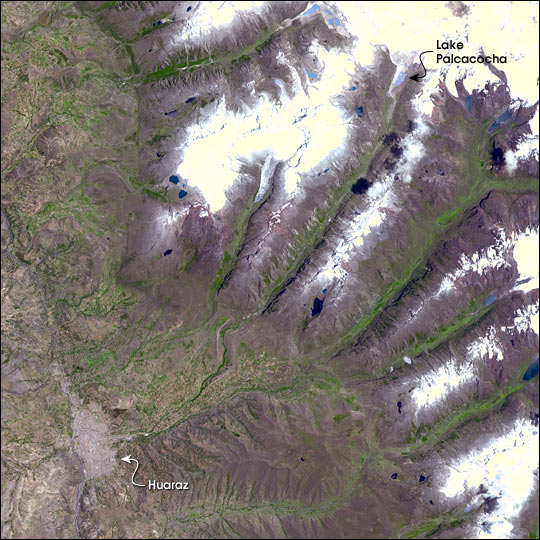 Glacial Collapse Threatens Huaraz, Peru