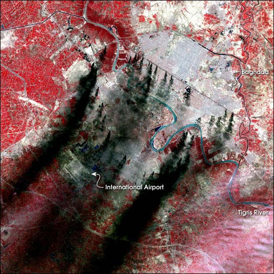 Smoke Blankets Baghdad
