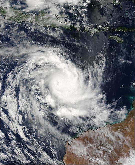 Tropical Cyclone Inigo Approaches Australia