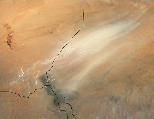 Dust Storm over Lake Chad