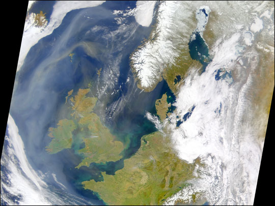 Haze Shrouds the United Kingdom
