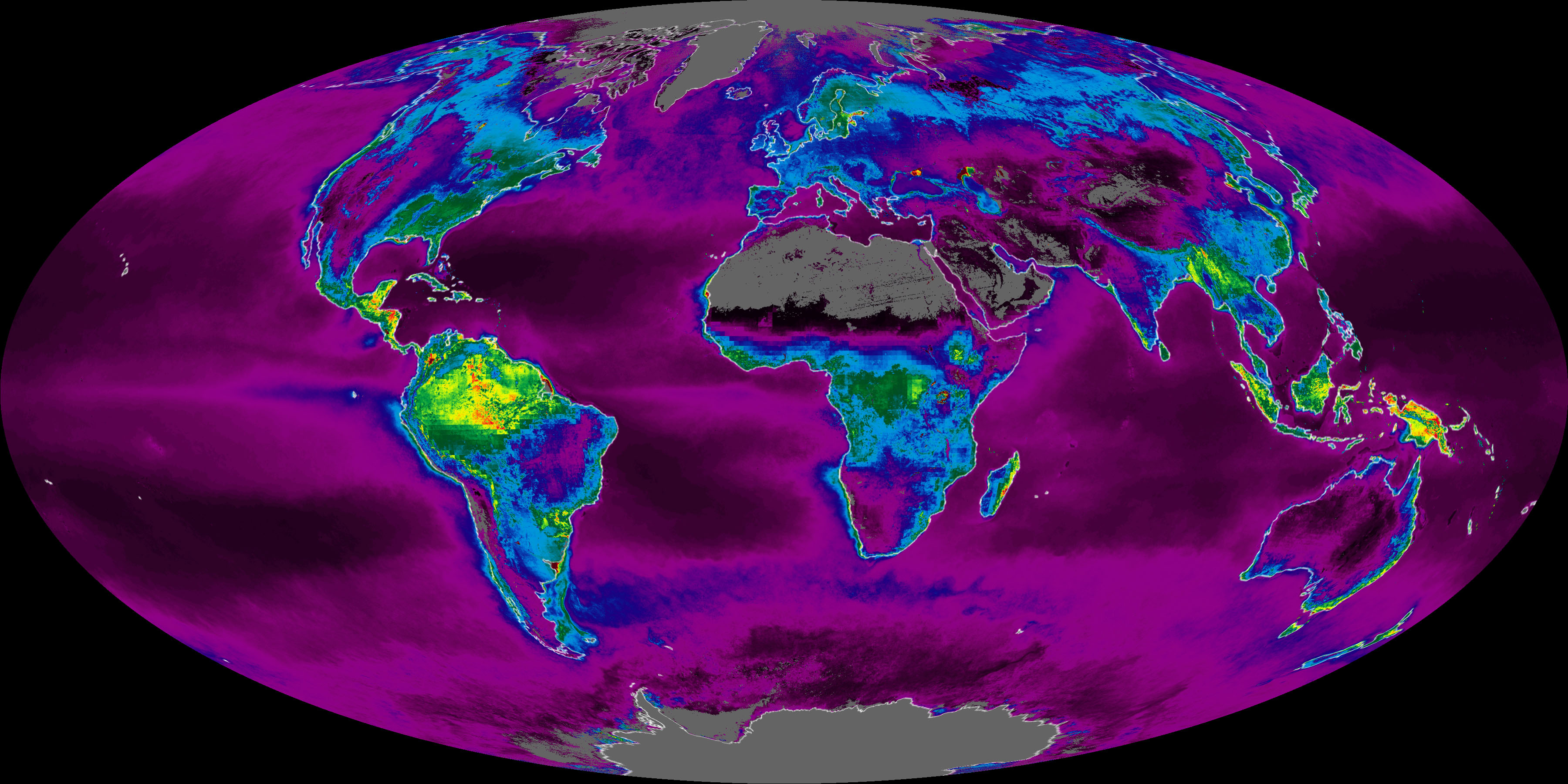 NASA Satellites Measure Earths Metabolism Image Of The Day - Recent satellite images of earth