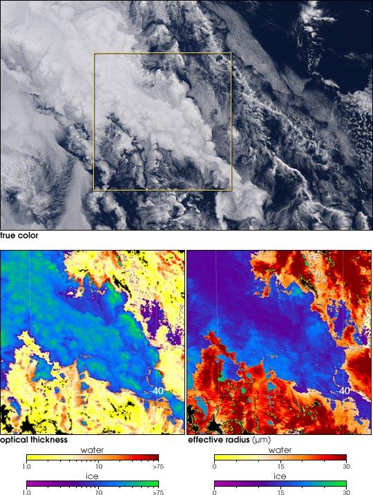 Complex Clouds off Australia