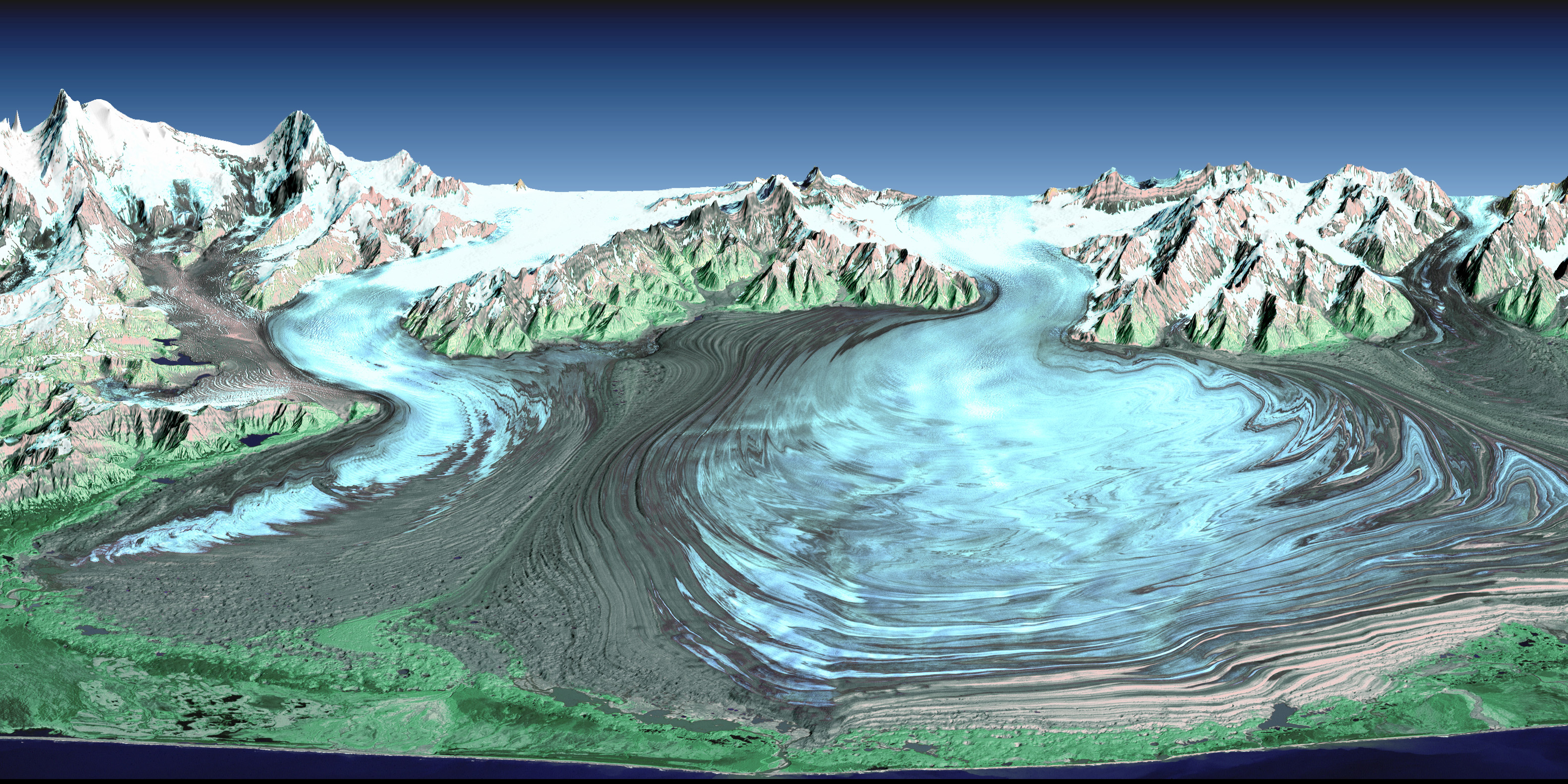 Malaspina Glacier, Alaska : Image of the Day