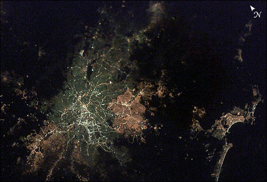 Sao Paulo, Brazil, at Night