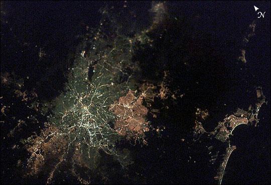 São Paulo, Brazil, at Night