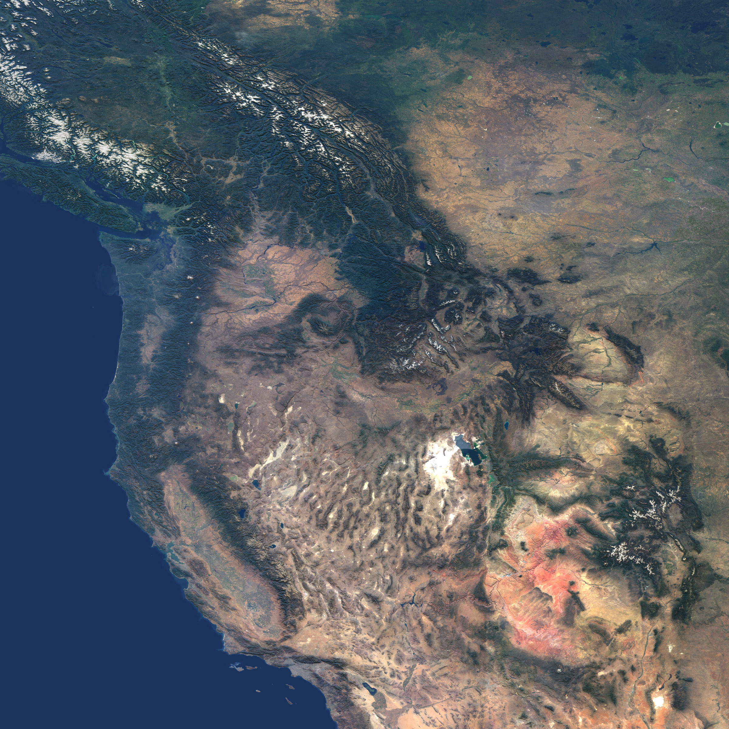 Picture of: Western United States And Southwestern Canada