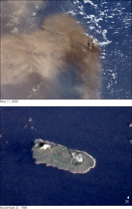 First Recorded Eruption of Anatahan Volcano - related image preview