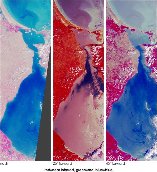 Oil Slicks on Lake Maracaibo, Venezuela
