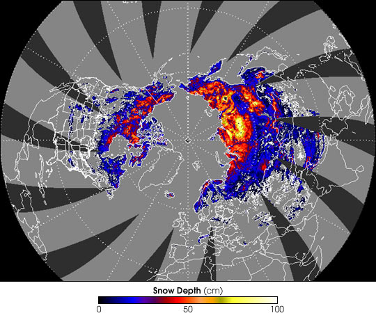 Snow Depth in the Northern Hemisphere