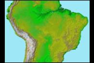 Topography of South America