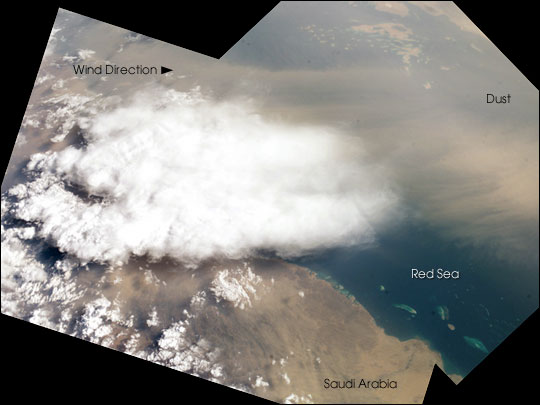 Dust Storm over the Southern Red Sea