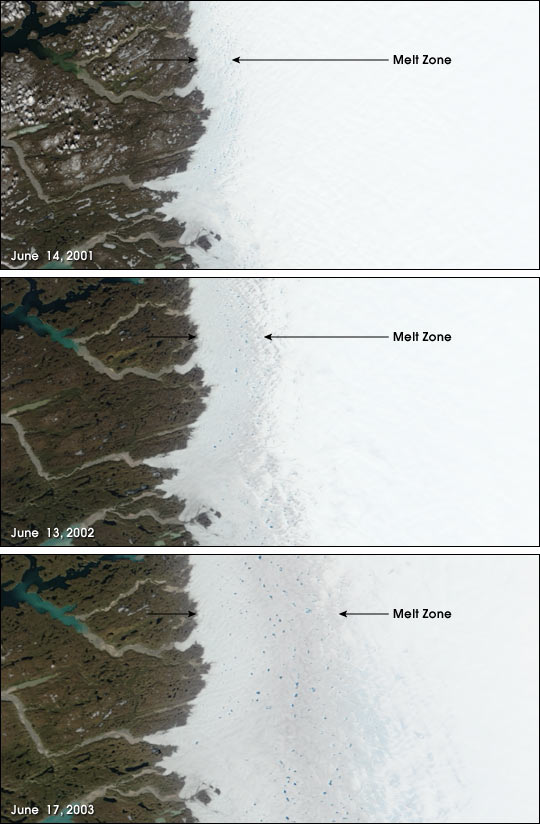 The Melting Ice of Greenland