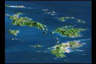 Perspective Image of the Virgin Islands, Caribbean