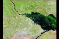 Flooding along the Zambezi River