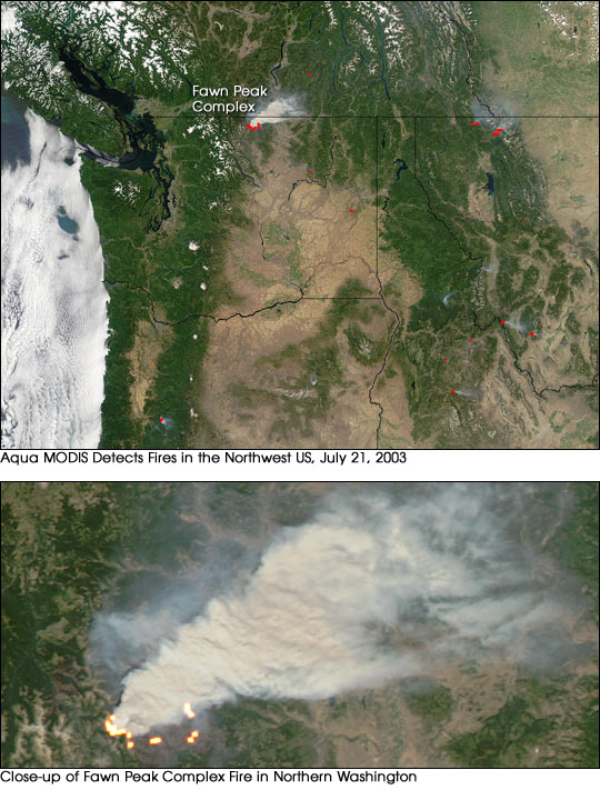 Fires in the Northwest US