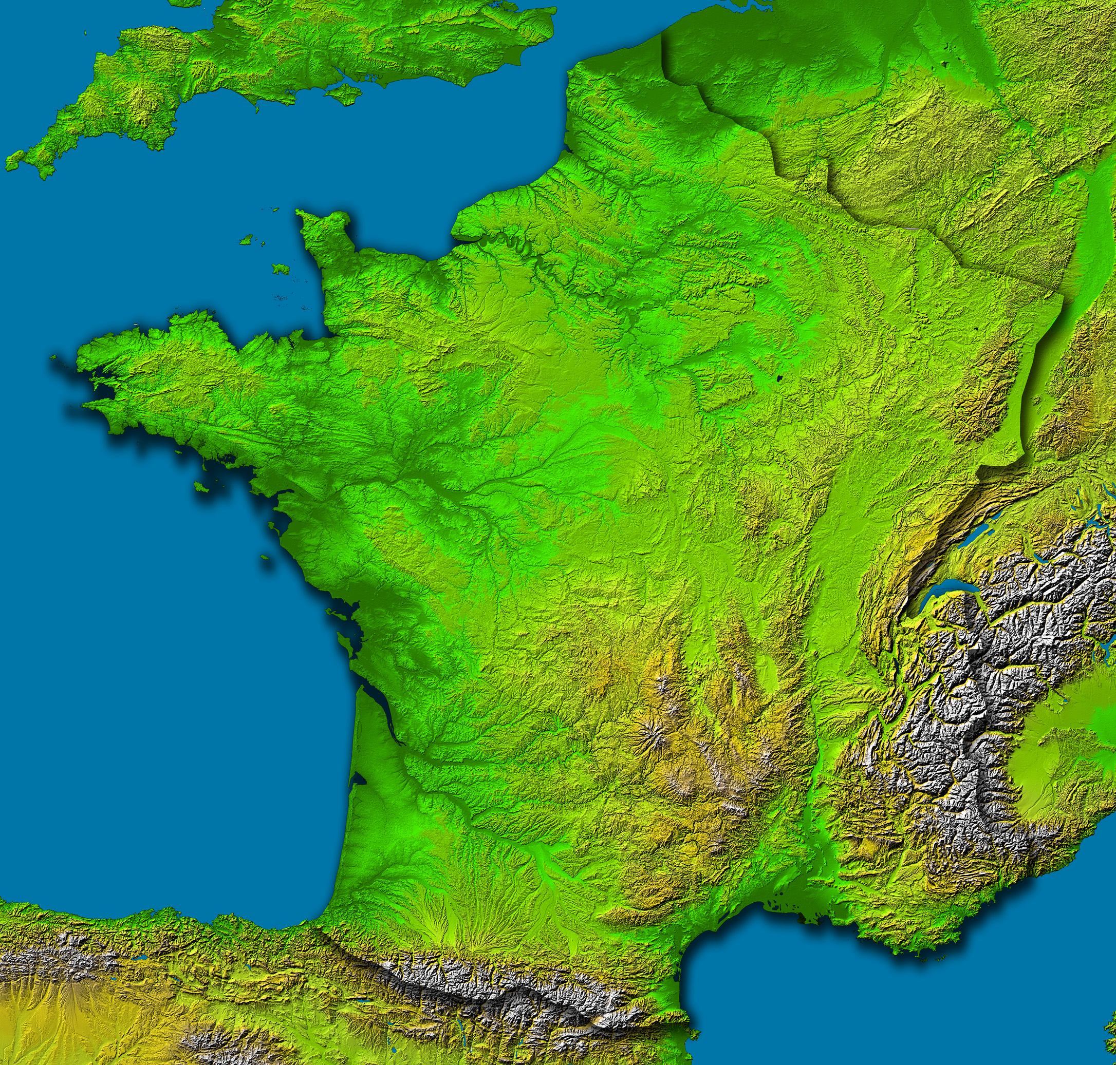The Topography Of France