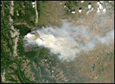 Wildfires in Glacier National Park and Alberta