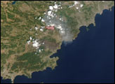 Forest Fires in Southern France