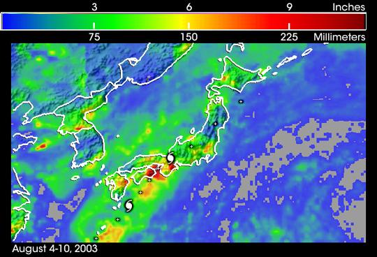 Typhoon Etau Sweeps Across Japan