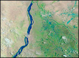 Flooding along the White Nile, Sudan