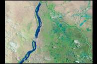 Flooding along the White Nile, Sudan