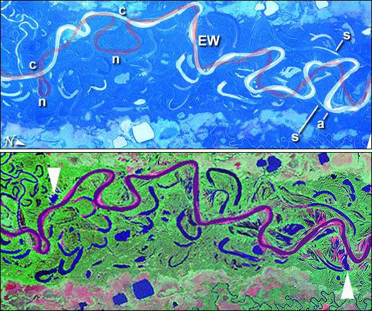 Changes in the Mamore River, Bolivia
