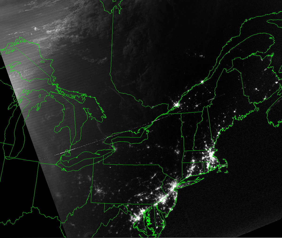 Northeast Power Outage Map.Blackout Leaves American Cities In The Dark