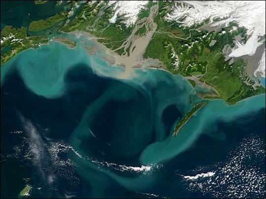 Sediments along the Alaskan Coast