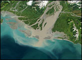 Sediments along the Alaskan Coast