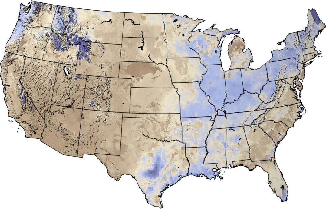 Soil Moisture Maps Image Of The Day - Us moisture map