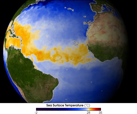 Sea Surface Temperatures in Hurricane Alley
