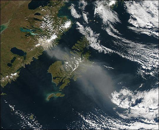 Volcanic Ash over Kodiak Island, Alaska