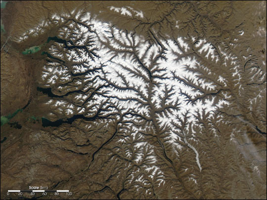 Early Snow on Russia's Putorana Plateau