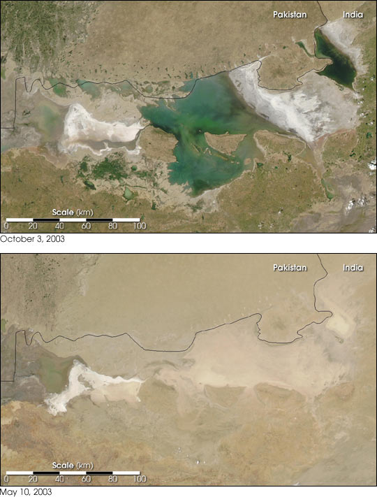 Seasonal Flooding in the Rann of Kutch