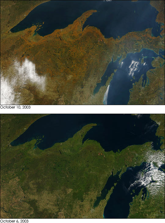 Autumn in Wisconsin and Michigan
