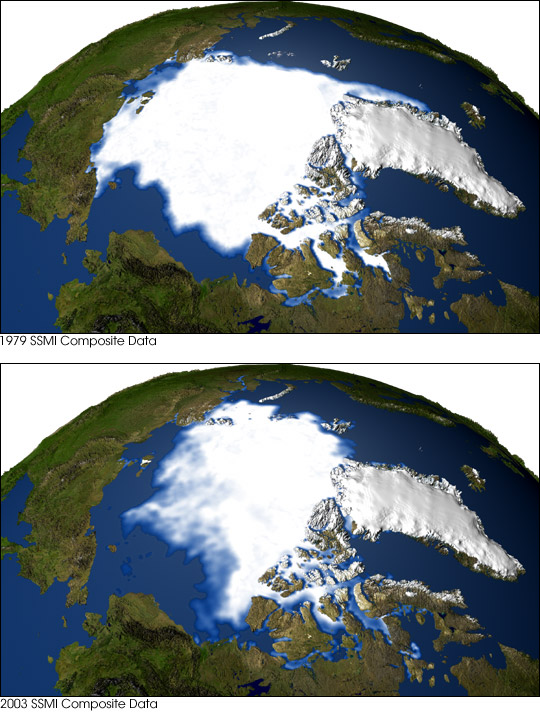 Dwindling Arctic Sea Ice