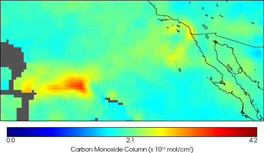 Carbon Monoxide from California Fires