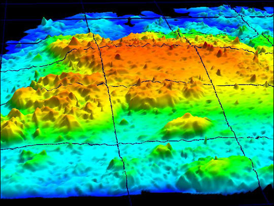 EARRL Maps Topography of Johnson's Reef