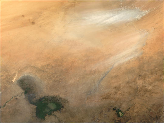 Dust Storm near Lake Chad