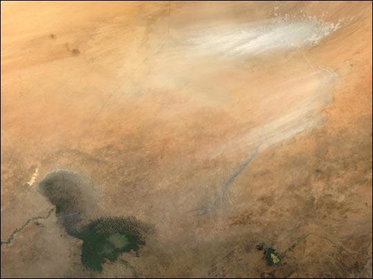 Dust Storm near Lake Chad