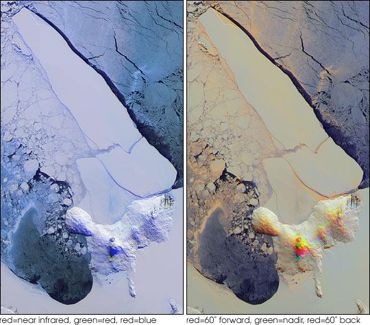 Breakup of the World's Largest Iceberg