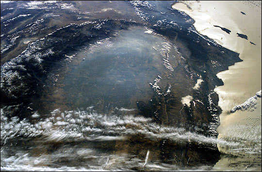 Fire Smog in the Central Valley of California
