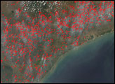Fires in Mozambique, Zimbabwe, and South Africa