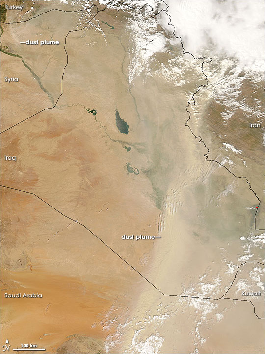 Dust Plumes over the Middle East