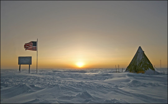 Spring Sunrise Over South Pole