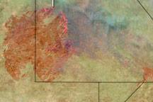 Huge Bushfire in the Kalahari
